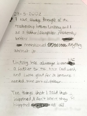 The note that, under pressure from the Exclusive Brethren, one of the abused sisters wrote and signed, saying she had ...
